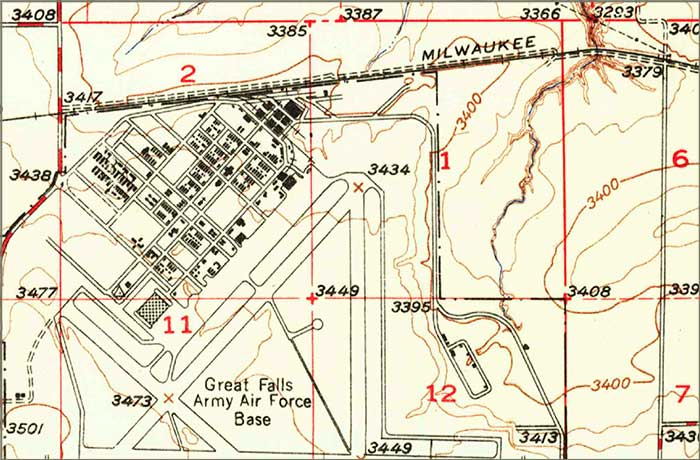Malmstrom Air Force Base map